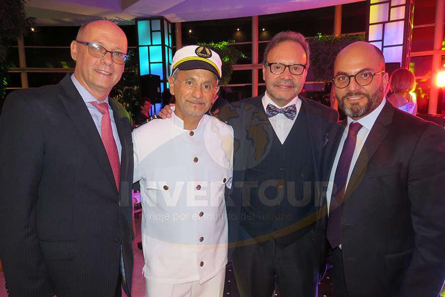 Carlos Mackinlay, Jaime Rogel, Manuel Montelongo y Manlio Carpizo