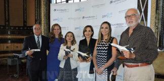 Ángel Córdova, Amelia Deluca, Rosi Prado, Gloria Gallardo, Ana Cajiao y Luis Carrera del Río