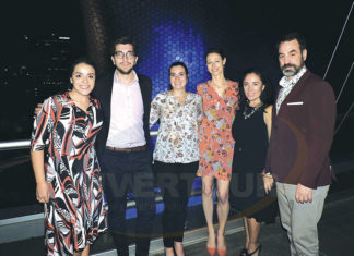 Magda Sánchez, Jean-Cédric Callies, Cynthia St-Louis, Fanny Lagarrigue, Vicky Marmolejo y Louis Loranger