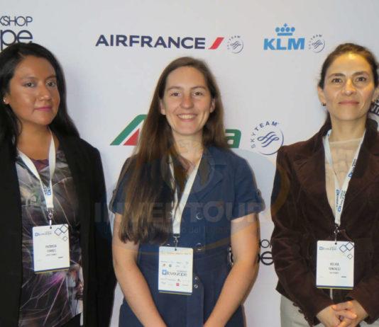 Patty Torres, Mélanie Belin y Helvia González