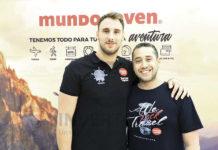 Víctor Gutiérrez con Rubén Mora