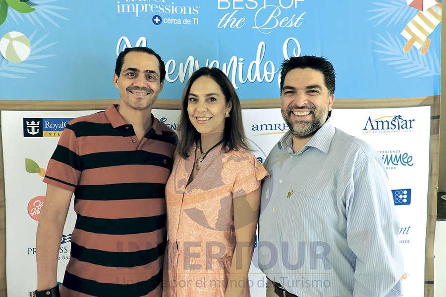 Benjamín Díaz, Adriana de la Torre y Paul Orizaga