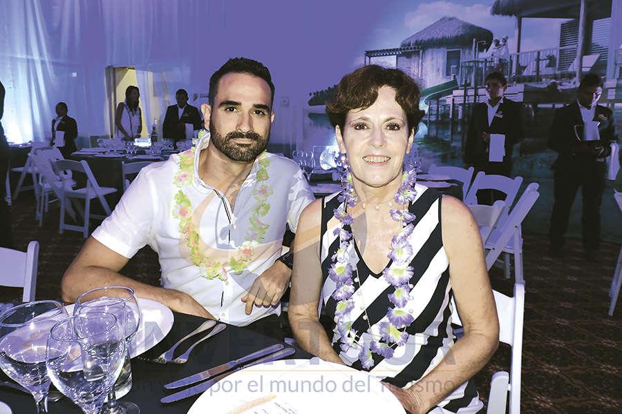 Manuel Rocamora con Daniela Menez