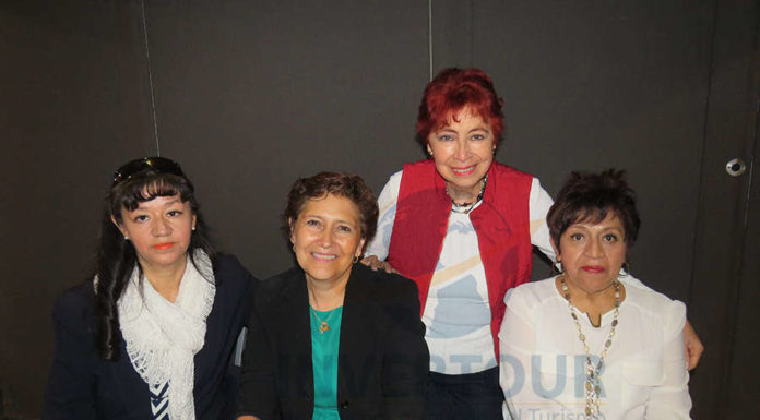 Tere Hernández, Elenita Mac, Clementina Torres y Beatriz Fragoso