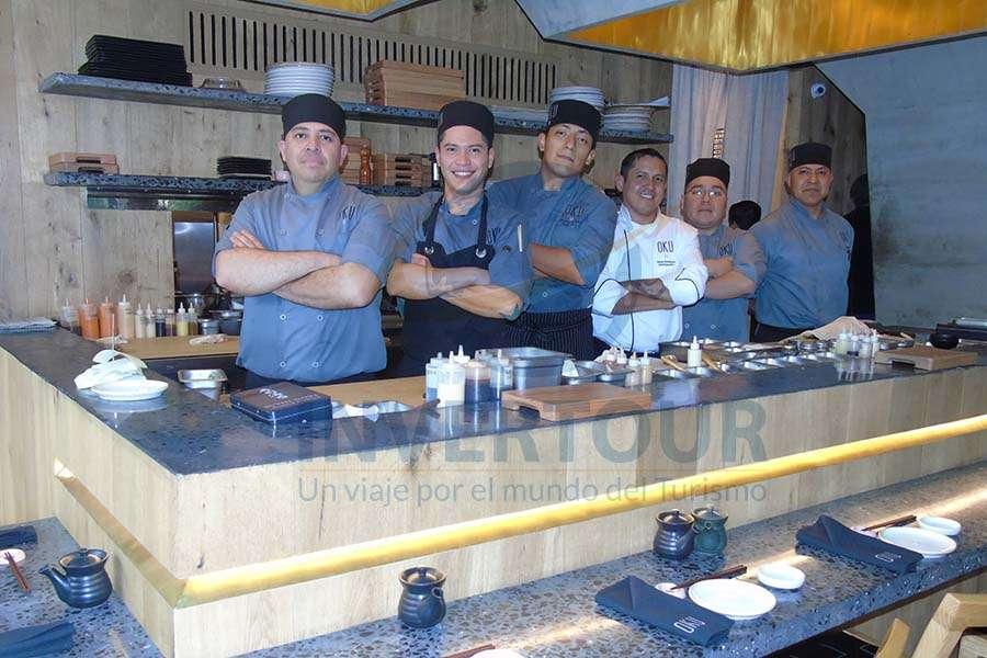 Alfredo, Luban, Antonio, chef Ejecutivo Mario Rodríguez, Gabriel y Ángel