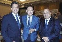 Gobernador Francisco García, Alex Pace y Benjamín Izquierdo