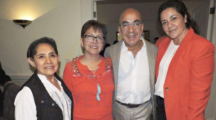 Dina Jiménez, Yolanda González, Erwin Romero y Alicia Terán