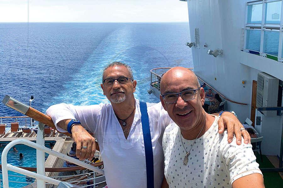 Jaime Rogel con Erwin Romero