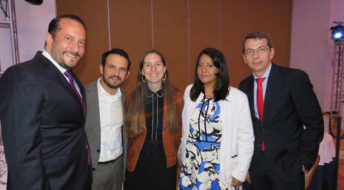 Jorge Sales Jr., José Trauwitz, Mélanie Belin, Patty Torres y Petr Lutter