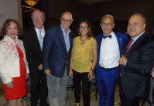 Teresita Muñoz, Isaac Brown, Carlos MacKinley, Ana Serrano, Jaime Rogel y Benjamín Izquierdo