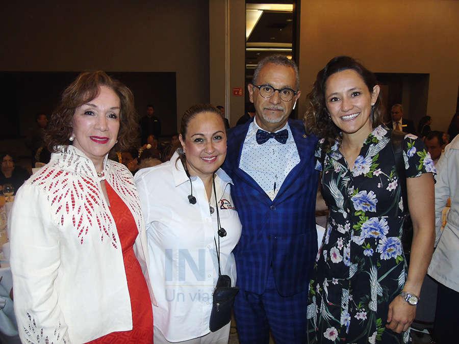 Teresita Muñoz, Gina Navarrete, Jaime Rogel y Blanca de la Garza
