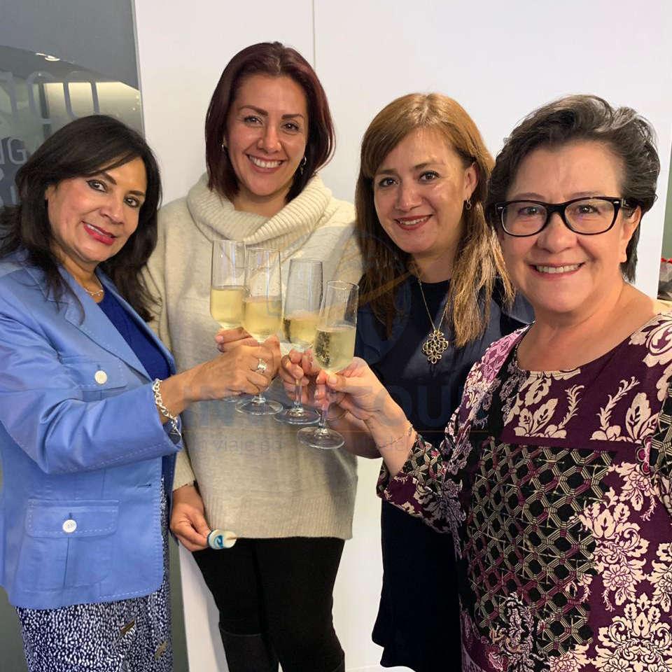 Ruth Leal, Laura Martínez, Malinalli Marquina y Edith Aguilar
