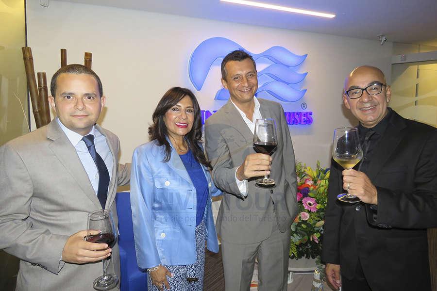 Mauricio Bustamante, Ruth Leal, Francisco Bravo y Erwin Romero