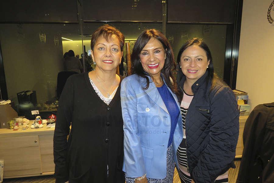Yolanda González, Ruth Leal y Claudia Garduño