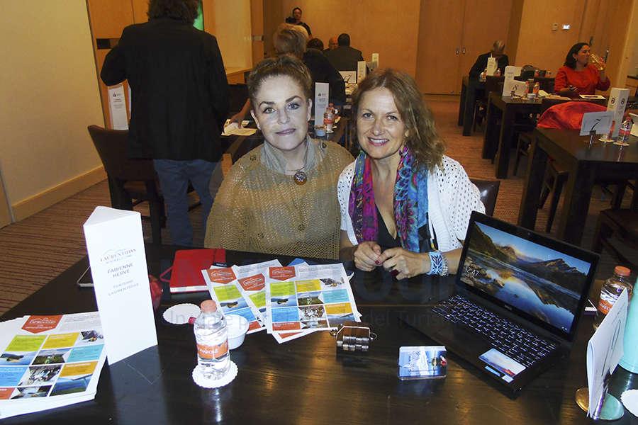 Magda Bermea y Fabienne Hervé