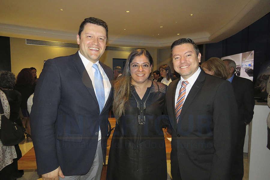 Juan Camilo Rincón, Karina González y José Albor