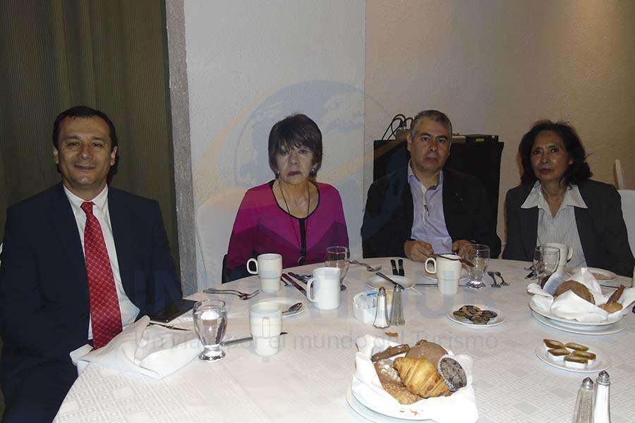Juan Carlos Nieto, Irma García, Iván Buendía y Estela Plasencia