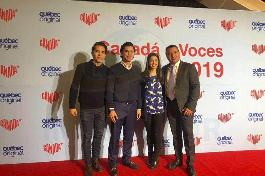 Jonathan Olivas, Gerardo Serrano, Marielle Bugnot y Alejandro Pérez
