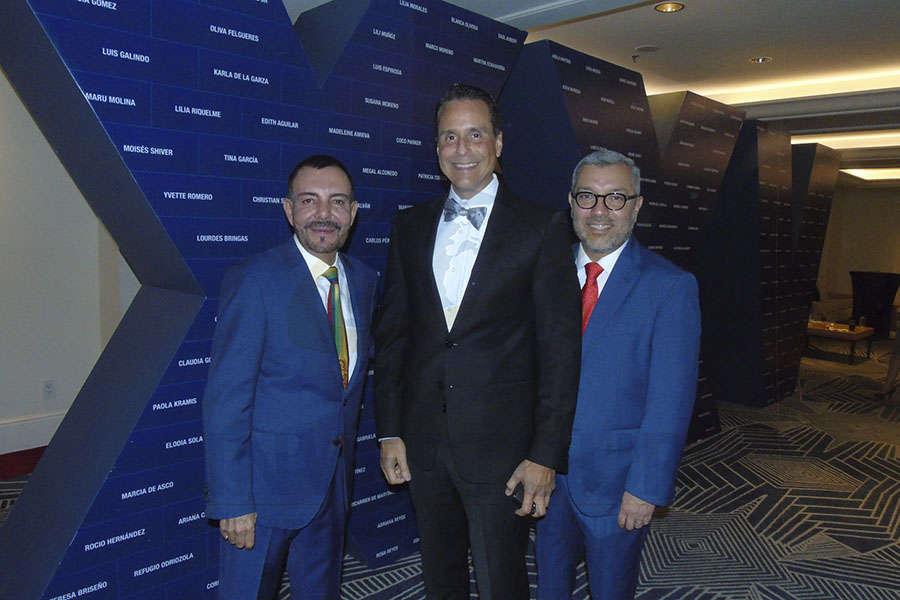 David Garduño, Frank Medina y Oscar Pérez