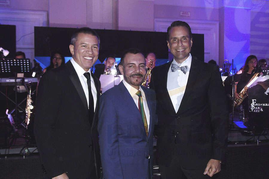 Andy Stuart, David Garduño y Frank Medina