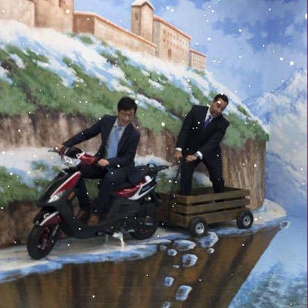 Diego Jiang con Rafael Aponte