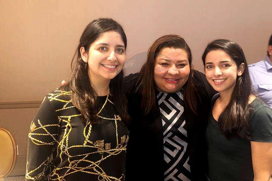 Marcela Carmona, Celida Puente y Marielle Bugnot