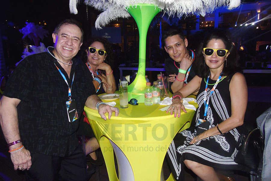 Humberto Farrera, Hortencia Olguín, Ismael Borja y Susy Orizaga