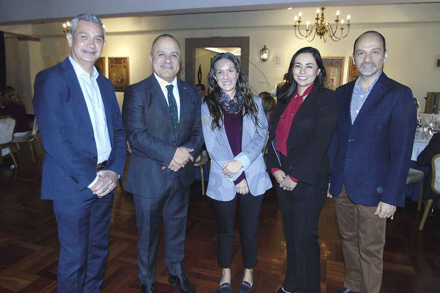 Jaime Díaz, Benjamín Izquierdo, Dani Madrid, Sandra Luna y Federico Mainfelt