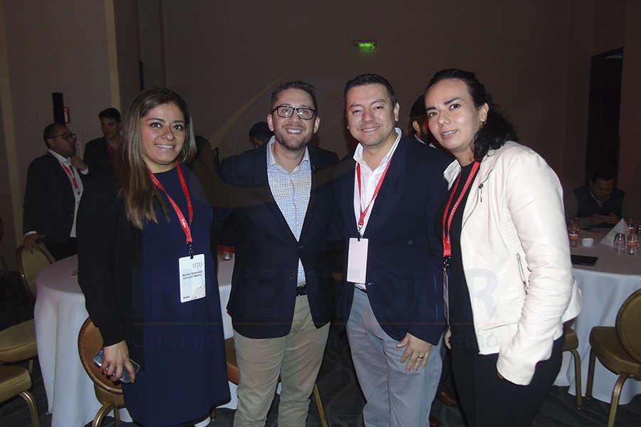 Karina González, Esteban Velásquez, José Albor y Sylvia Paz