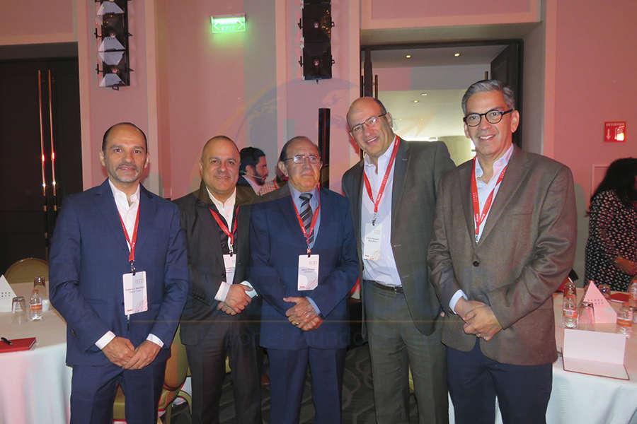 Federico Mainfelt, Benjamín Izquierdo, Ing. Jaime Orizaga, Arturo Ibargüen y Manuel Viñas