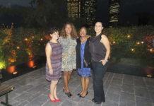 Gloria Herrera, Vanessa Somarriba, Maxine Morrell-West y Alethia García
