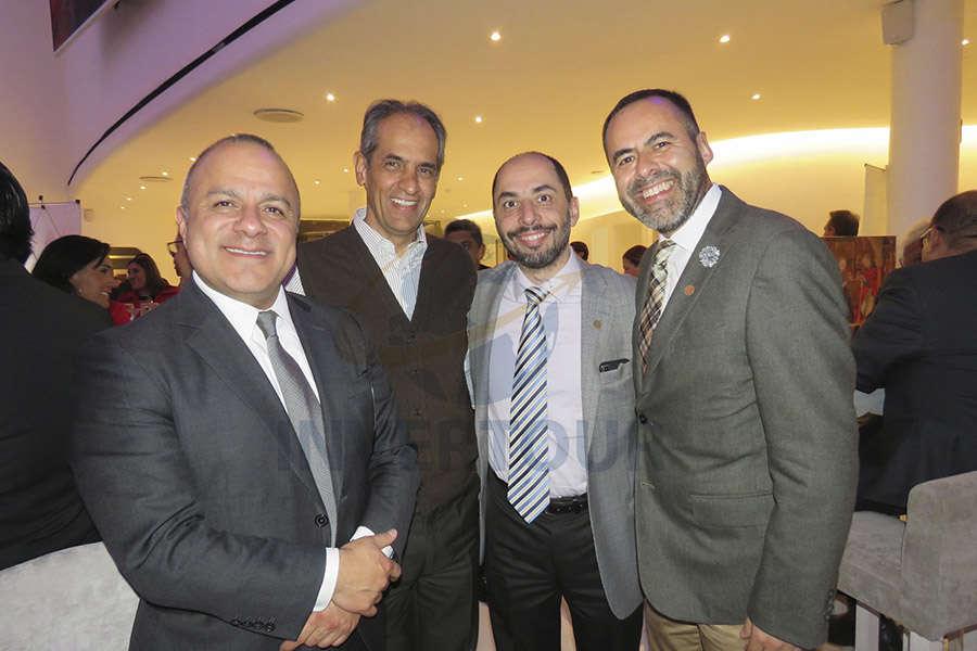 Benjamín Izquierdo, Octavio Medina, Antonio Taverna y José Medina