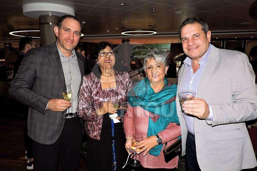 Miguel Kably, Patricia Valdés, Lilia Riquelme y Moisés Braverman