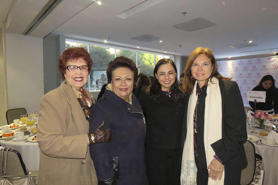Yolanda Montes, Lourdes Muciño, Sandra Luna y Cecilia Beltrame
