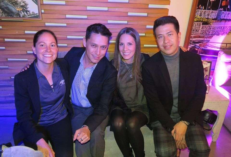 Diana Díaz, Ismael Borja, Dani Madrid y Cesar Ortega
