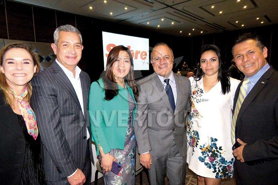 Karim Baldamus, Jaime Díaz, Brenda Alonso,  Benjamín Izquierdo, Mariana Pérez y Antonio Pinto