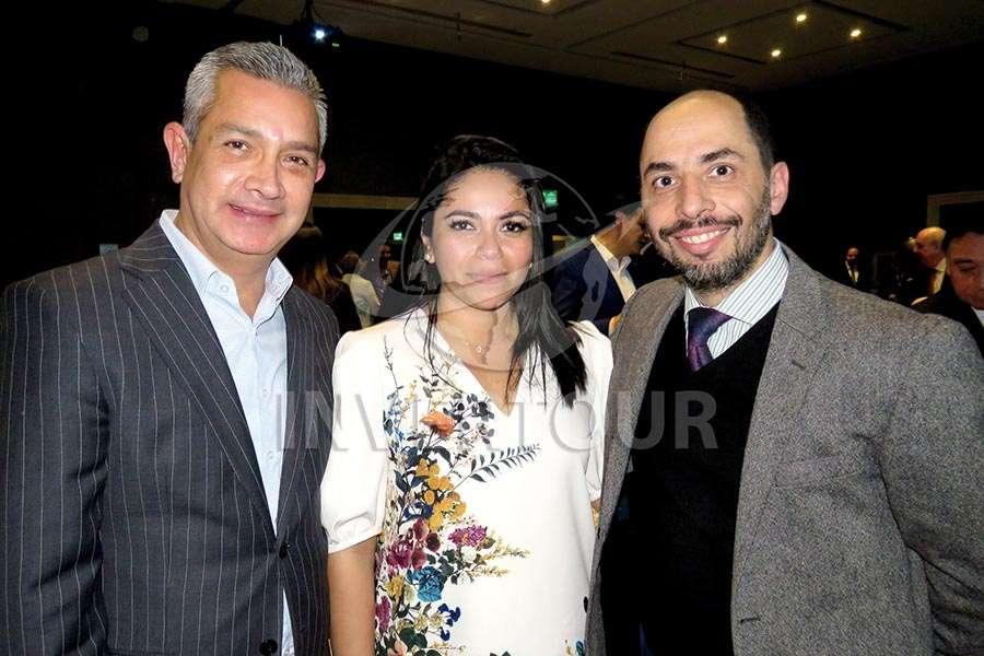 Jaime Díaz, Mariana Pérez y Antonio Taverna