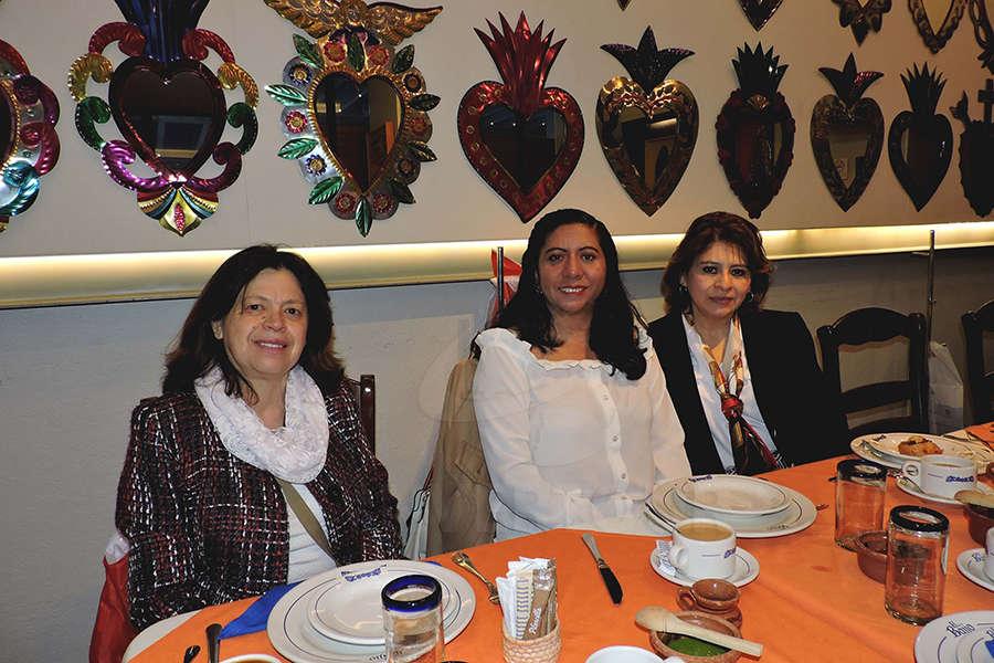 Sandra Rodas, Raquel García y Rosy Gutiérrez