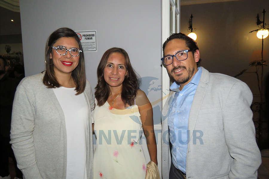 Daya Cruz, Karelia Paralizabal y Omar Hernández