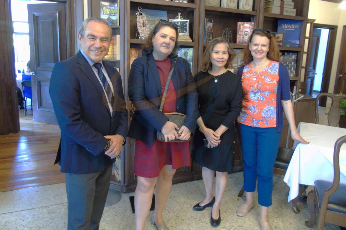 Pedro Casique, Angela Chekhlova, Chompunut Israsena y Katerina Ferguson