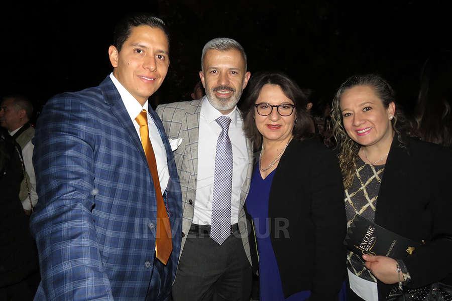 Miguel Miranda, Miguel Gómez, Lilia Martínez e Hilda Barragán
