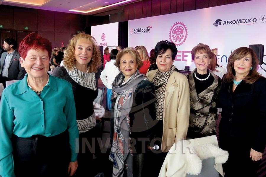 Murielle Zarazúa, Maru Denigris, Alicia Valles,  Ma. Teresa Pérez, Olga Pulido y Lucía Torres