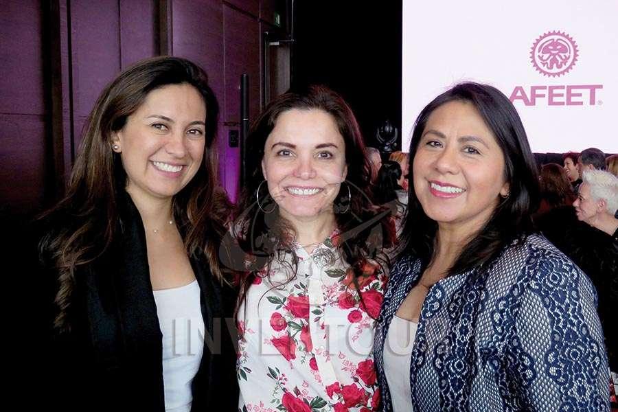 Andrea Daza, Carla Ponce y Carolina Martínez