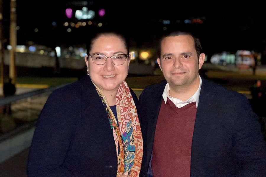 Ligia Arce y Mauricio Bustamante