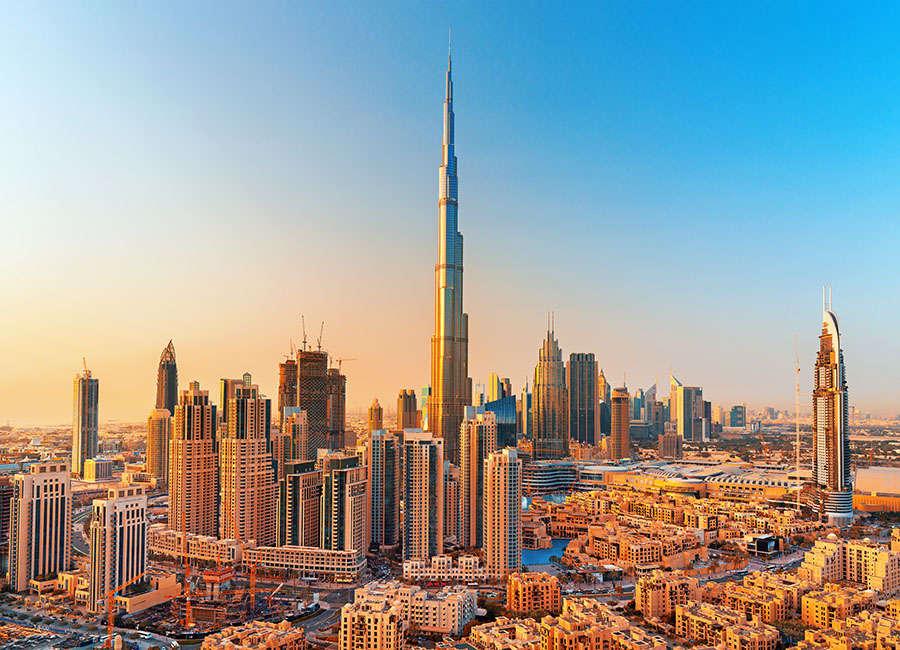 DUBAI ,UNITED ARAB EMIRATES-FEBRUARY 18, 2017: Beautiful Dubai d
