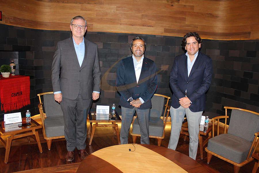 Luis Noriega, Cuitláhuac Gutiérrez y Ángel Pablo Carrillo