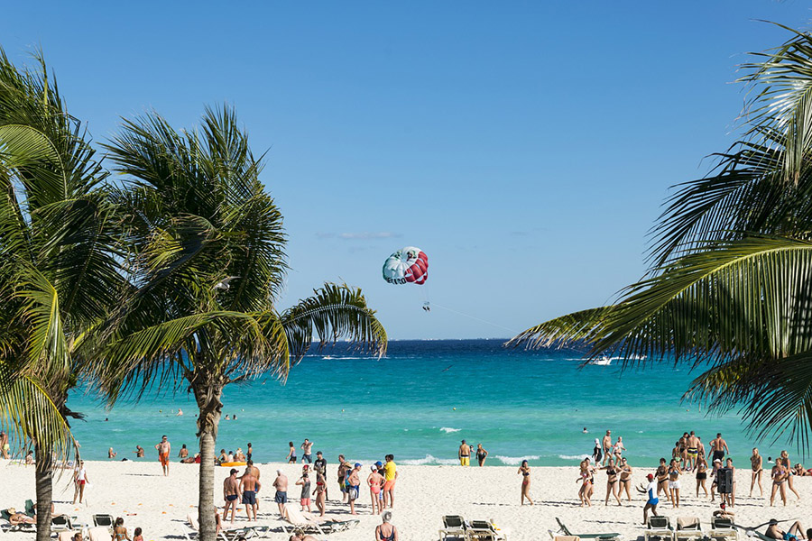 Mexico Summer Sun Cancun Vacations Beach Party