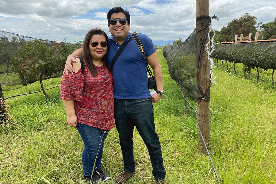 Celida Puente y Edgar Ramírez