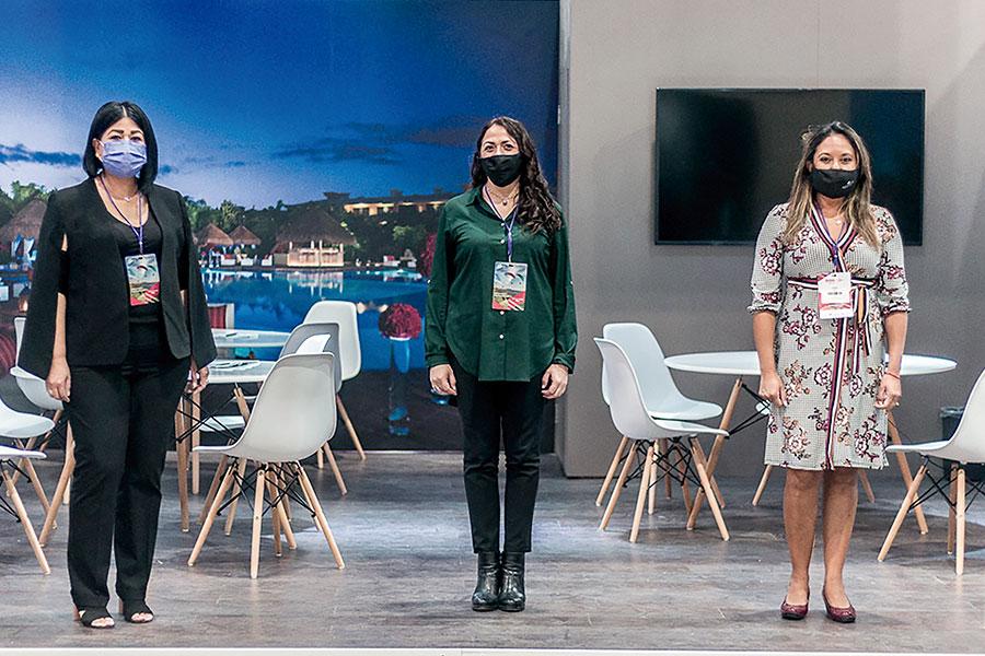 Laura Cabrera, Leticia Retana y Norma Ruiz