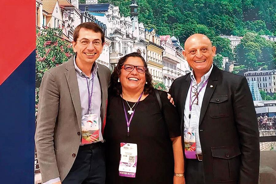 Petr Lutter, Norma Garín y Diego Ontañón